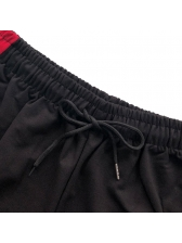 Running Contrast Color Embroidery Mens Pants
