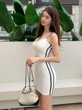 Slim Fit Knitted v Neck Bodycon Dress