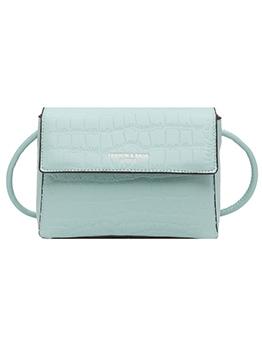 Crocodile Print Solid Color Knotted Strap Shoulder Bags