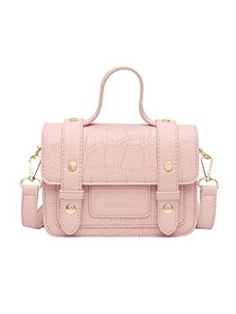 Adjustable Strap Solid Color Shoulder Bags With Handle