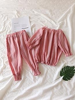 Sweet Printed Stripe Girls 2 Piece Set