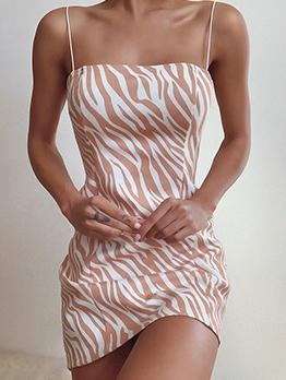 Newly Sleeveless Stripe Skinny Dresses For Women