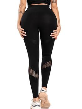 Gauze Patch High Waist Skinny Fitness Leggings