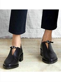 Pointed Toe Mid-Heel Closed Toe Heels