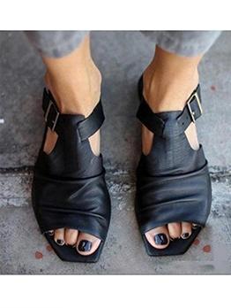 Roman Style Peep-Toe Women Flat Sandals