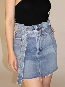 Temperament High Waist Pencil Denim Skirt For Summer