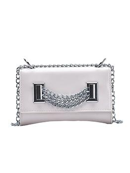 Metal Splicing Solid Women Chain Shoulder Bags