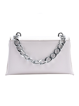 Thick Chain Solid Color Pu Crossbody Bum Bags