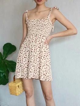 Stylish Printed Sleeveless Camisole Dress