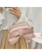 Big Bowkont Solid Faux Pearl Handle Ladies Handbags