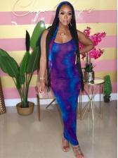 Colorful Scoop Neck Summer Maxi Dresses