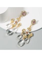 Retro Personality Rhinestone Street Women Earrings