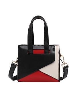 Color Patchwork Removable Strap Shoulder Bags