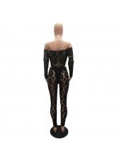Sexy Off Shoulder Bodysuit Lace Two Piece Sets