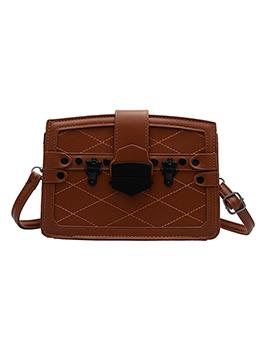 Vintage Threaded Solid Rectangle Shoulder Bags