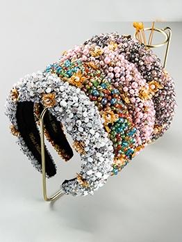 Fashion Beaded Head Hoop Rhinestone Hair Accessories