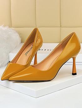Simple Pure Color Women Stiletto Heels