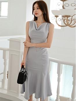 Chic Mermaid Design Sleeveless Summer Dresses
