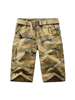 Casual Camouflage Straight Short Pants For Men