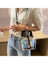 Transparent PVC Cartoon Printing 2 Piece Shoulder Bags