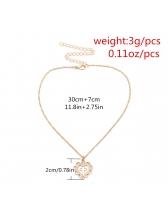 Retro Style Heart Pendant Necklace For Women