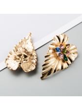 Hyperbole Alloy Material Rhinestone Earrings For Women