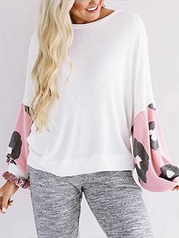 Stylish Lantern Long Sleeve Sweatshirt For Women