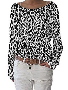 Loose Leopard Plus Size t Shirts For Women
