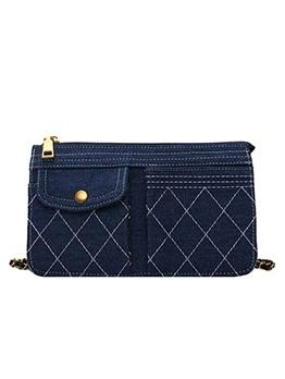 Threaded Design Outer Pocket Trendy Crossbody Bags