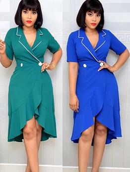 Fashion Solid Great Pendulum Women Dress