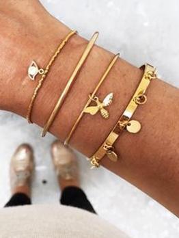 Bee Eye Combination Fashion Women Bracelets Set