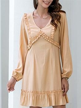 Stringy Selvedge Detail V Neck Orange Short Dress