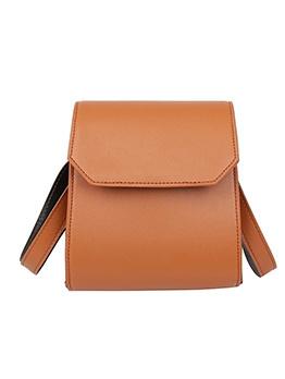 Minimalist Style Pure Color Pu Women Shoulder Bags