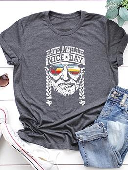 Summer Fashion Solid Women Simple T-Shirt