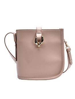 Wide Strap Solid Color Versatile Style Shoulder Bags