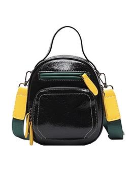 Multiple Zipper Removable Wide Belt Crossbody Bags