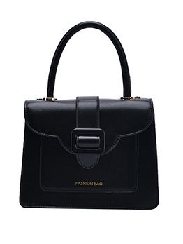 Square Buckle Solid Color Shoulder Bag With Handle