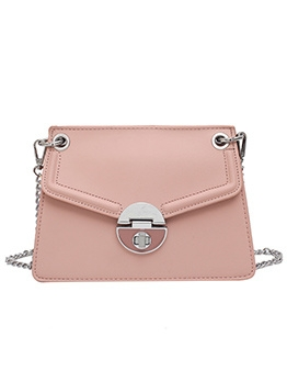 Trapezoidal Removable Chain Solid Shoulder Bags