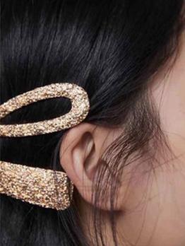 Geometric Shape Glossy Color Simple Style Hair Clip