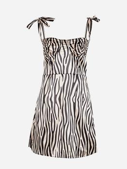 Summer Striped Sexy Sleeveless Women Dress