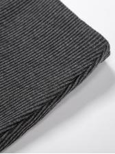 Solid Long Sleeve Zipper Two Piece Skirt Set