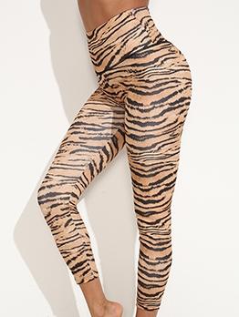 Fitness High Waist Tiger Print Yoga Leggings
