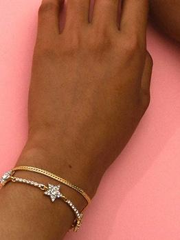 Fashion Simple Generous Rhinestone Women Bracelet