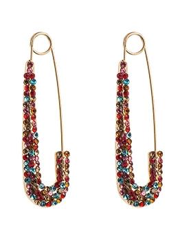 Alloy Material Rhinestone Fashion Colourful Pin Earring