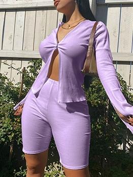 Fashion Zipper Up Sport Yoga Women Trouser Sets