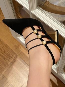 New Design Faux Pearl Stiletto Heels