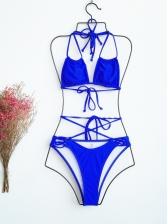 Sexy Spaghetti Strap Leopard Print Swimwear