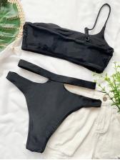 Tie Dye High Waist One Shoulder Tank Bikini