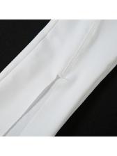 Plain Halter Crop Top And Pant Set