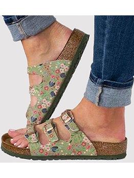 Roman Style Non Slip Flat Summer Slippers